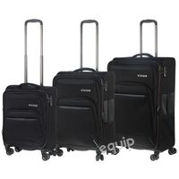 Zestaw walizek Travelite Kendo Lite - czarny - produkt z kategorii- Torby i walizki