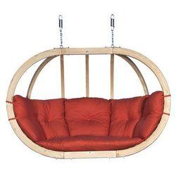 Fotel hamakowy drewniany, Czerwony Swing Chair Double