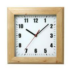Zegar drewniany kwadrat #1 marki Atrix