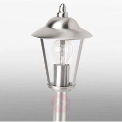 Oświetlenie brilliant Brilliant neil zewnętrzna lampa stojąca stal nierdzewna, przezroczysty, 1-punktowy