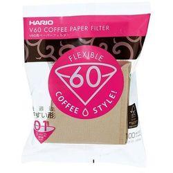 Hario filtry brązowe V60-01 - 100szt. papierowe Misarashi