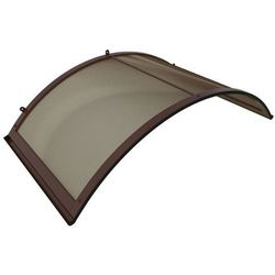 Zadaszenie Daszek Nad Drzwi łukowy Aluminiowy Profil Brązowy, Przeszklenie Dymne 158cm X 75cm X 38cm (5905725370009)