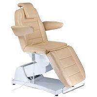 Elektryczny fotel kosmetyczny bologna bg-228 beż marki Beauty system