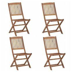 Edinos premium Drewniane krzesła ogrodowe mandy - 4 szt.