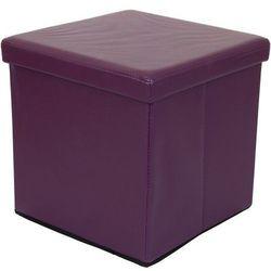 Stilista ® Fioletowa składana pufa cube siedzisko kufer fotel - fioletowy