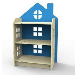Drewniany Regał Domek Niebieski z kategorii Regały i półki