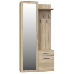 Garderoba szafa z lustrem + wieszak dąb sonoma