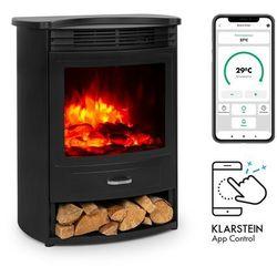 Klarstein Bormio S Smart, kominek elektryczny, 950/1900 W, termostat, timer tygodniowy, czarny