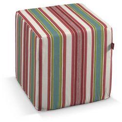Dekoria pokrowiec na pufę kostke, kolorowe pasy, kostka 40 × 40 × 40 cm, londres