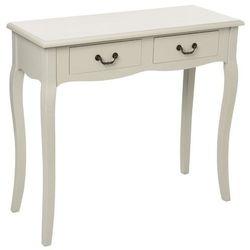 Stolik drewniany CHRYSA, toaletka z dwoma szufladami (3560238576342)