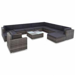 12-częściowy zestaw ogrodowy z krzesłem i stolikiem szary - Bero 12A, vidaxl_44423