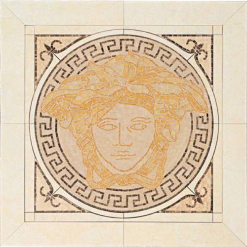 PALACE LIVING Rosoni Medusa in ceramica Oro/Almond 41x41 (P81) ze sklepu 7i9.pl Wszystko  Dla Domu