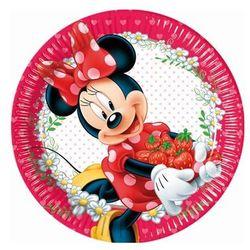 Talerzyki urodzinowe Myszka Minnie z owocami - 23 cm - 8 szt.