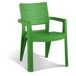 Plastikowe krzesło ogrodowe sztaplowane IBIZA zielone