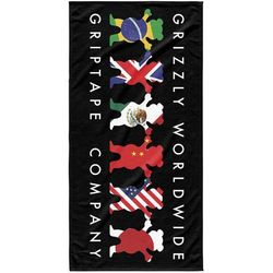 Grizzly Ręcznik - worldwide tribe towel black (blk)