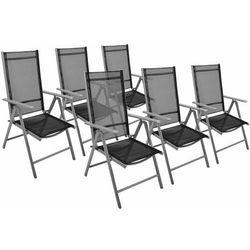 Zestaw krzeseł ogrodowych czarne