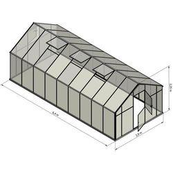 Szklarnia sanus xl-18 wymiar 2,9x6,4m h=2,25m 18,6m2 poliwęglan 6mm marki Emaga