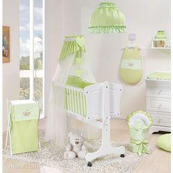 MAMO-TATO 13-el Kołyska + materac + pościel haftowana do kołyski 40x90 cm - Pokoik zielony