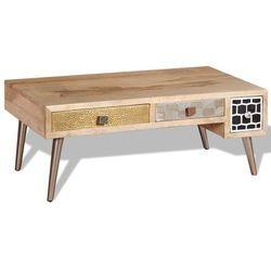Vidaxl stolik kawowy z szufladami, drewno mango 105x55x41cm (8718475528890)