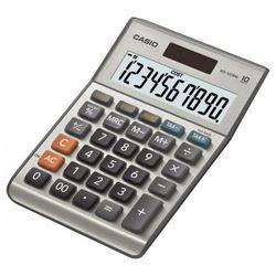 Kalkulator Casio, MS 100 B MS, srebrna, stołowy, funkcja konwersji walut, %, VAT (4971850090502)