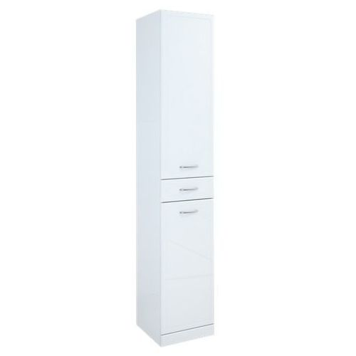 Elita Aqua Line słupek łazienkowy wysoki z drzwiczkami i szufladą biały 35x35,5x187 cm 164012 - produkt do