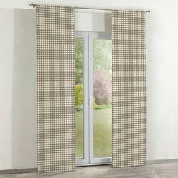 Dekoria zasłony panelowe 2 szt., beżowo biała kratka (1,5x1,5cm), 60 × 260 cm, quadro