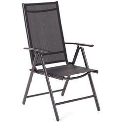 Home&garden Krzesło ogrodowe aluminiowe ibiza basic black / black (5902425322819)