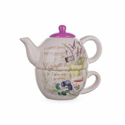 lavender czajnik z filiżanką marki Banquet