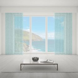 Firana na wymiar do pokoju - CRYSTAL LIGHT BLUE II