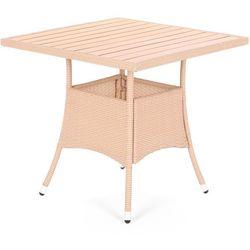 Stół z technorattanu Mori Beige Elegant 80x80 (5902425323618)