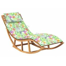 Bujany leżak ogrodowy w kwiaty z litego drewna - Afis 3X, vidaxl_3063345