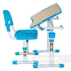 Piccolino II Blue - Ergonomiczne, regulowane biurko dziecięce + krzesełko FunDesk