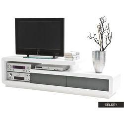 SELSEY Szafka RTV Pavonis 170 cm z szarymi szufladami (5903025429465)