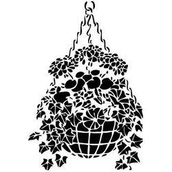 Szablon malarski, wielorazowy, wzór flora 239 - kosz kwiatów marki Szabloneria