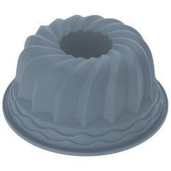 Okrągła forma do pieczenia ciast - silikonowa, 24 cm, szara (5902973403466)