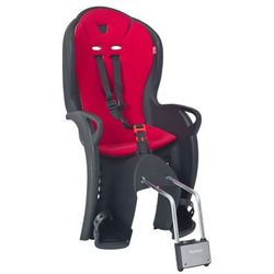 Fotelik rowerowy Hamax KISS czarny, czerwona wyściółka