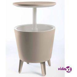 Keter stolik koktajlowy ze schładzarką napojów 49,5 x 57cm, beżowy