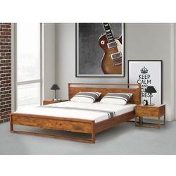 Beliani Łóżko – drewniane - olejowane - 180cm x 200cm - giulia, kategoria: łóżka