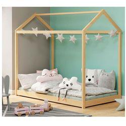 Sosnowe pojedyncze łóżko dziecięce w formie domku - Tutti, V-PL-YOGI-LOZ-SOSNA