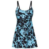 Sukienka kąpielowa wyszczuplająca  turkusowo-czarny, Bonprix, M-XXXXL