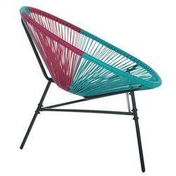 Krzesło rattanowe różowo-turkusowe ACAPULCO (4260624113739)