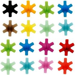 Znaczniki silikonowe do szklanek gwiazdki 12 sztuk marki Mastrad