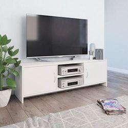 szafka pod tv, biała, 120 x 30 x 37,5 cm, płyta wiórowa marki Vidaxl