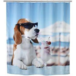 Zasłona prysznicowa COOL DOG, tekstylna, 180x200 cm, WENKO, B06XD441Q7