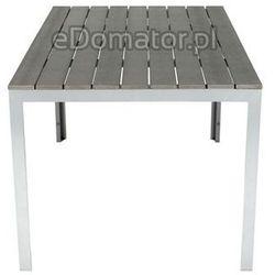 Meble ogrodowe składane aluminiowe MODENA Stół i 6 krzeseł - Srebrny - Srebrny