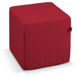 Dekoria pokrowiec na pufę kostke, czerwony szenil, kostka 40 × 40 × 40 cm, chenille