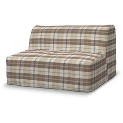 Dekoria Pokrowiec na sofę Lycksele prosty, krata kremowo-beżowa, sofa Lycksele, Edinburgh
