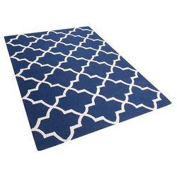 Dywan niebieski wełniany 160x230 cm silvan marki Beliani