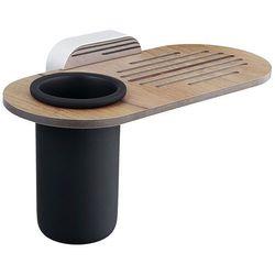 Mydelniczka z kubkiem łazienkowym Bisk BERGEN znal + tworzywo HPL (5901487071048)
