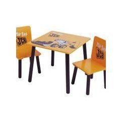 Kidsaw Komplet Stolik i 2 krzesełka Koparka JCB